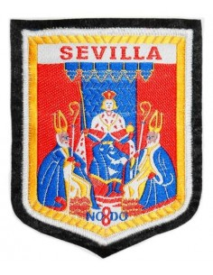 Embroidered patch old coat of Seville