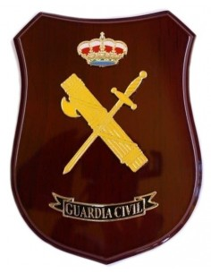 Spanish Civil Guard Wooden Badge