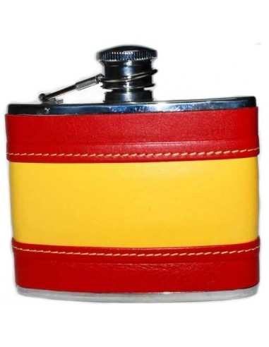 Spanish Flag Leather Liquor Flask