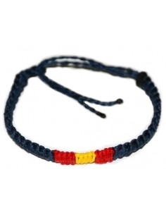 Bracelet navy blue or White of Thread Waxed Model 2