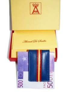 Spanish Flag details Money Clip - Royal Blue