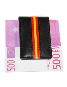 Spanish Flag Details Money Clip - Black