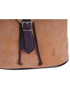 Split Leather Backpack - Camel