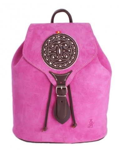 Split Leather Backpack - Pink