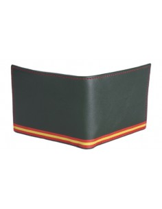 Billetera Bandera España Diagonal- Escudo Legión Grabado