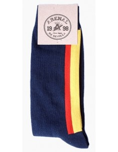 Socks Spain Flag - Blue Marine