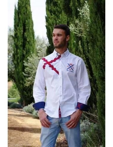 Borgoña's cross shirt for men- white