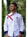 Camisa Cruz de Borgoña de Caballero - Blanca