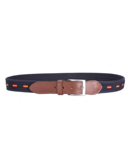 Spanish Flag Belt - Navy Blue and Brown