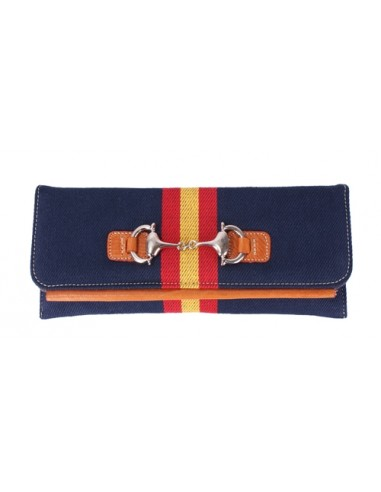 Spanish Flag Details Wallet - Navy Blue