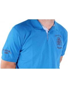 Spain Shield Polo Shirt - Royal Blue