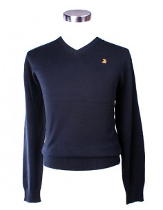 Ribbed Jersey - Navy Blue
