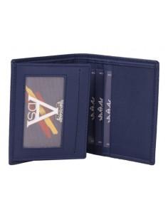 Spanish Emblem Wallet - Blue Leather