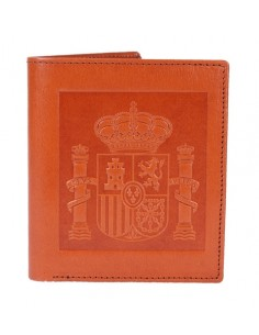 Spanish Emblem Wallet - Orange Leather