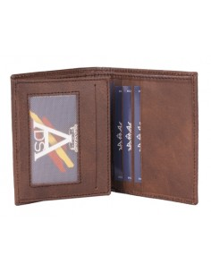 Spanish Emblem Wallet - Brown Leather