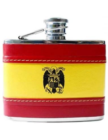 San Juan Eagle Spanish Flag Leather Liquor Flask