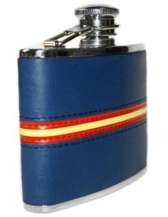 Caneco de Piel Azul con Bandera España