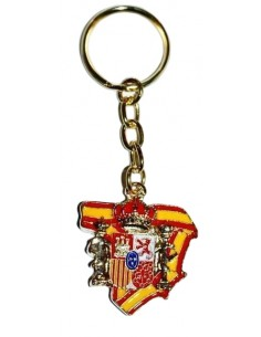 Spain Map Civil Guard Key Ring