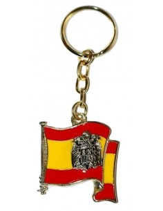 San Juan Eagle Glazed Flag Keychain