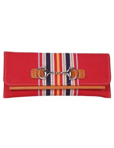 Spanish Flag Details Clutch - Red