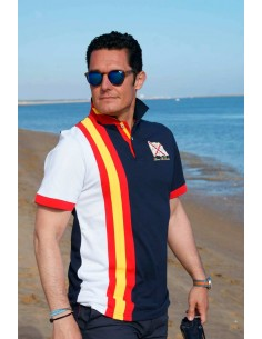 Spanish Flag Polo Shirt - Navy Blue