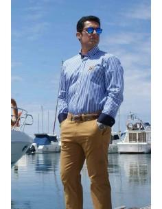 Camisa Hombre Rayas Azulonas