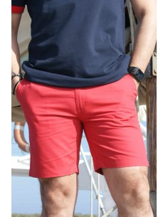 Pantalón Corto Sport de Caballero en Rojo