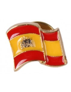 Waving Flag Pin Enamel