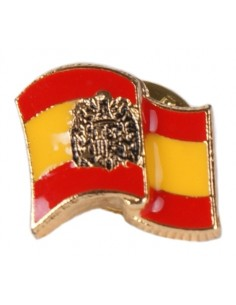 Lapel Pin Flag Waving San Juan Eagle Enamel