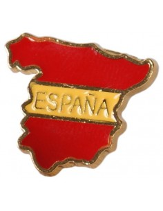 Spanish Flag Map Pin