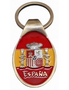 Franco and Aguila Flag San Juan Keychain