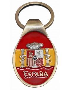 Oval Shield Keychain Spain