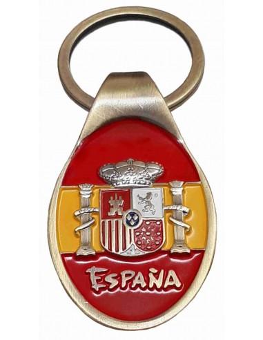 Franco and Aguila Flag San Juan Keychain
