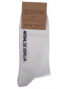 Spanish Flag Socks - White