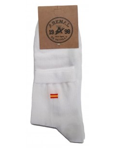 Spanish Flag Socks - White