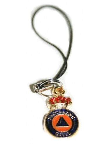 Spanish Civil Protection Mobile Phone Pendant