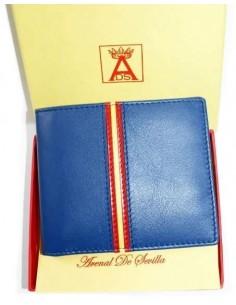 Billetera Azulina Estilo Americano con Bandera España