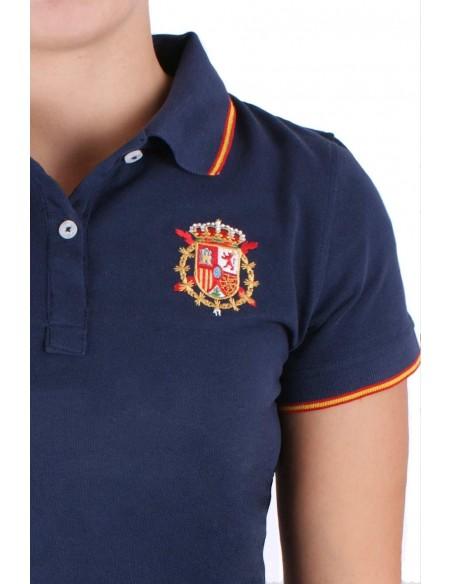 Polo Bandera España Casa Real Para Mujer
