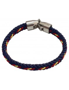 Spanish Flag Details Braided Thread Bracelet