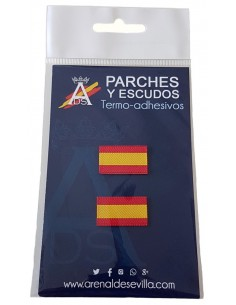 Pack 2 Parches Bandera España Sin Escudo Mini