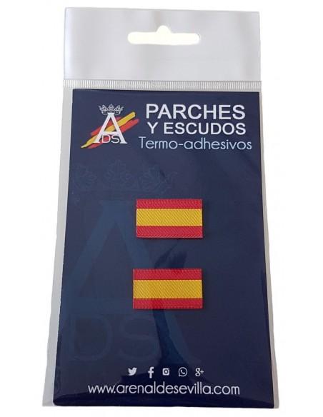 Pack 2 Parches Bandera España Sin Escudo Mini