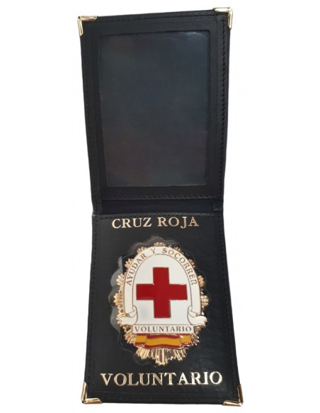 Cartera Placa Voluntario Cruz Roja