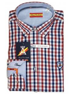 408b7e84a5 Camisa Hombre de Cuadros Bandera España Camisa Hombre de Cuadros Bandera  España