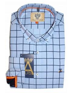 Camisa Hombre Cuadros Marinos Bandera España
