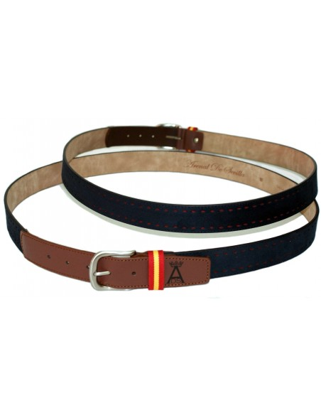 Picao Leather Belt Serbia Spain Navy Belt