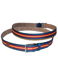 Leather Belt - Split Spain Flag Stewardess