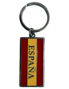 Spanish flag with badge keyring