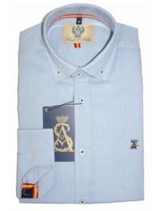 Camisa Hombre Celeste Bandera España