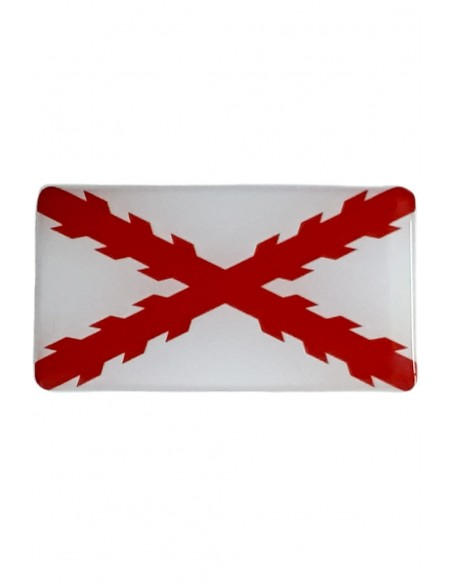 Pegatina Cruz Borgoña Relieve
