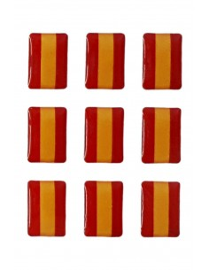 Pegatinas Mini Pack de 9 Bandera Española Relieve